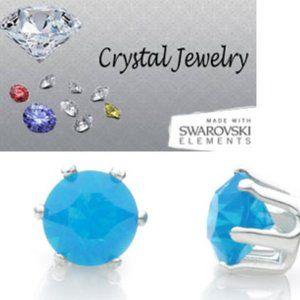 Caribbean blue opal 2 Carat T.W. Swarovski NWT